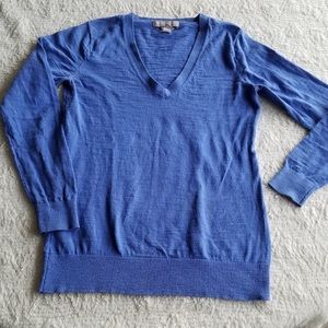 Lightweight V neck Sweater Blue pull over Size XS